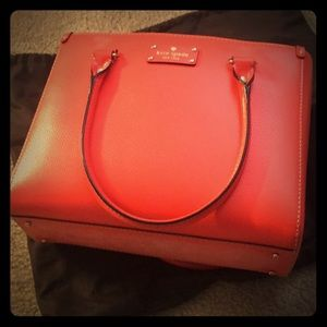 Kate spade coral leather bag new with tag